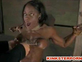 Pervert BDSM Games – Slave is Bounded, Slapped, Dildoed in a Brutal Humiliation