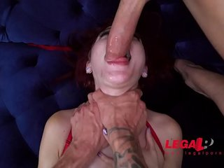 EXTREMELY HORNY Petite Teen Bitch Lola Fae 1st Double Penetration